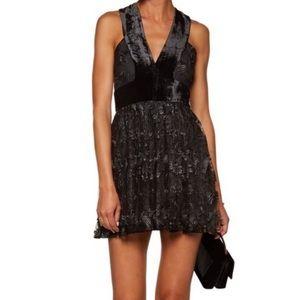 A.L.C. Wyatt Velvet & Lace Dress NWT Size-8 Black